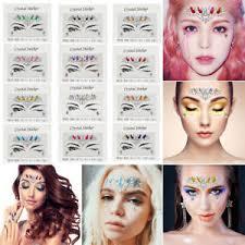 temporary forehead eye sticker adhesive gems makeup