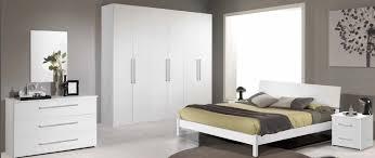 chambre à coucher blanche chambre adulte complète160x200cm blanche laquée haut de gamme pas