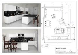 u shaped kitchen floor plans