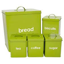 kitchen canisters green 5 kitchen jars storage cannisters bread bin tea coffee sugar