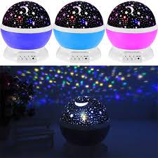 childrens night light projector led rotating star projector novelty lighting moon sky rotation kids