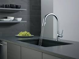 kitchen faucets delta trinsic kitchen faucet stainless arctic
