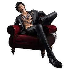 one piece trafalgar law on couch 1 8 scale statue zing pop culture