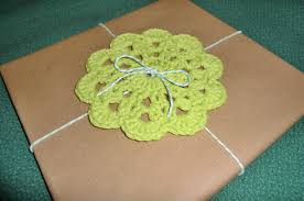 crochet coasters gift wrap the true sea