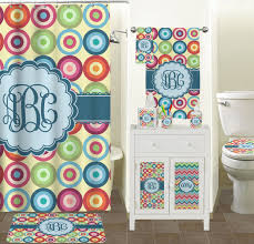 Circles Shower Curtain Retro Circles Shower Curtain Personalized Potty Concepts