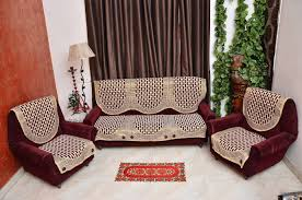 Buy Rshp  Seater Maroon Coffee Cotton Sofa Cover Online At Low - Sofa cover design