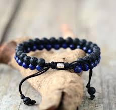 bracelet matte onyx black cord shamballa bracelet handmade