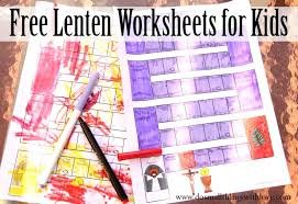 lenten worksheets kids free printable u2013 small