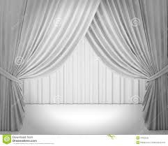 white stage curtain background stock illustration image 47002245