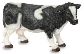 fresian cow garden ornament