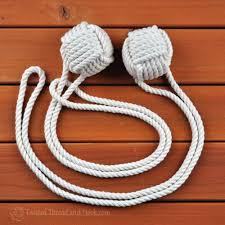 Monkey Hook 1 Pair Of Large Monkey Fist Curtain Tiebacks With Full Loop