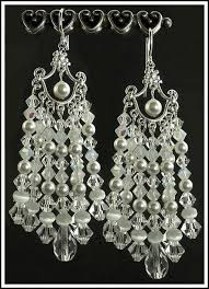 pearl chandelier white pearl chandelier earrings