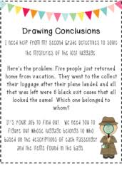 printables drawing conclusions worksheets 3rd grade eatfindr