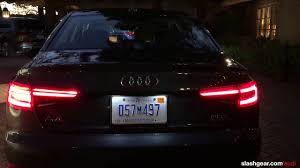 audi a4 tail lights 2017 audi front and rear lights youtube