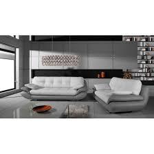 ensemble canapé pas cher ensemble de canapés 3 2 regal blanc et gris achat vente canapé