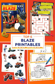 the 6 best blaze printables of all time nickelodeon parents