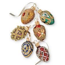 jeweled egg ornaments set of 6 gump s