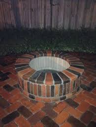 Brick Fire Pits by Brick Fire Pit To Match The Existing Patio Home Back Yard