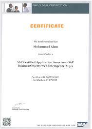 Resume Certification Sample Sap Trainer Resume Resume For Your Job Application