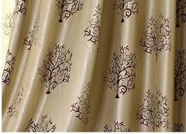 Jacquard Curtain Rich Tree Curtains European Simple Jacquard Curtain Plant Pastoral