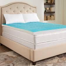 Novaform Gel Memory Foam Mattress Topper Bedroom Beige Gel Foam Mattress Topper With Throw Pillows On