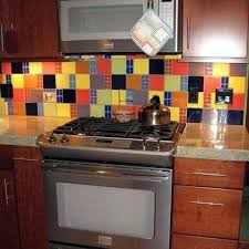 Best Kitchen And Bathroom Backsplashes Images On Pinterest - Colorful backsplash tiles