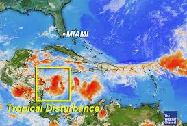 caribbean weather map writing prof