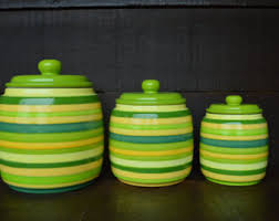 lime green kitchen canisters custom painted 4 ceramic canister set includes