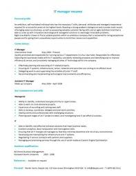 It Manager Resume Examples by Position Applied For Resume U2013 Resume Examples