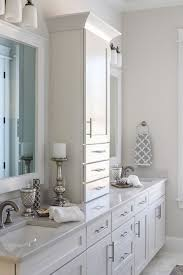 Finished Bathroom Ideas White Bathroom Ideas With Classic Countertop Storage Cabinet Using