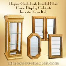 italian gold leaf beveled glass curio display cabinets arrive at