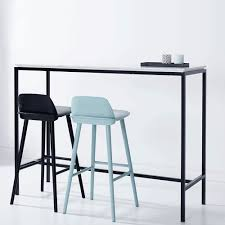 High Bar Table And Stools Modern Designer Marble High Bar Table Italian Carrara Black
