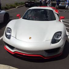 porsche 918 front red and white porsche 918 spyder at miller motorcars