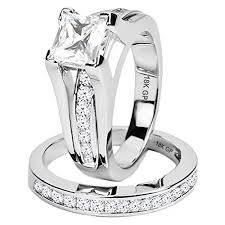 appropriate engagement party gifts amiery 18k white gold plated princess cut cz wedding engagement