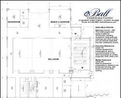 Ballroom Floor Plan by Ball Conference Center About The Facilities