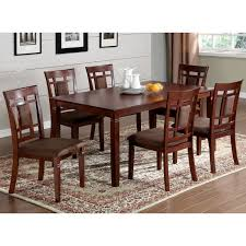Cherry Dining Room Furniture Of America Mulani 7 Cherry Dining Set Free