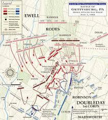 Map Of Williamsport Pa Gettysburg Rodes Attacks Oak Ridge July 1 1863 Civil War Trust