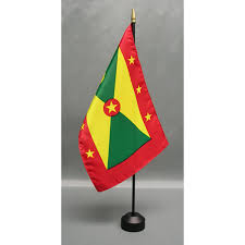 Flag Of Grenada Country 8 U0027 X 12 U0027 Mounted E Gloss Flag Closeouts Eder Flag