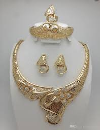 luxury gold necklace images Best 2017 top exquisite dubai jewelry set luxury gold plated big jpg