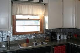Metal Backsplash Kitchen Kitchen Top Notch Kitchen Decoration Design Ideas Using Black Tin