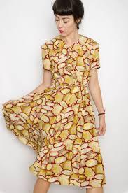90s dress vintage hq 90s ruffles abstract dress size m bichovintage
