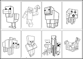 free minecraft cartoon coloring pages kids coloring7