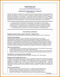 resume exles hr manager resume format lovely human resource management resume