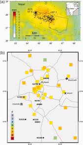 Where Is Nepal On The Map by Strong Motion Observations Of The M 7 8 Gorkha Nepal Earthquake