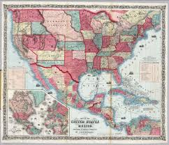 United States Map 1860 by Map Of The United States And Mexico David Rumsey Historical Map