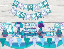 the sea party mermaid party printable package mermaid party the sea