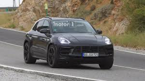 porsche suv inside 2018 porsche macan facelift photographed inside and out