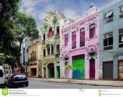 the colonial style of architecture rio de janeiro stock photo