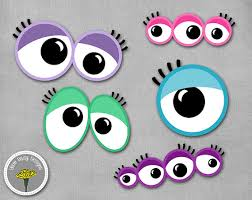 printable girly photo booth props monster girly eyes photo props printable instant download
