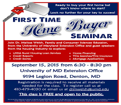 first time home buyers seminar university of maryland extension